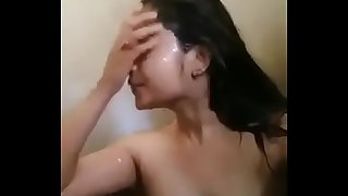 Indian girl shower video calling